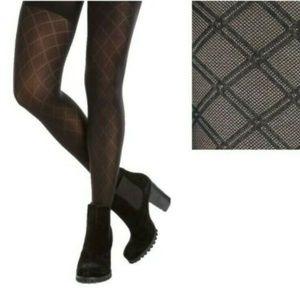 Spanx Womens Patterned Tights Diamond Pattern